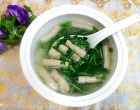 虾味饺西洋菜汤