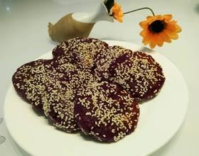 糯米紫薯饼