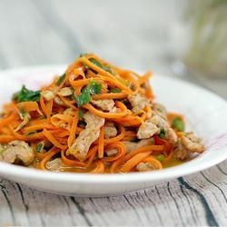 胡萝卜炒肉丝的做法[图]