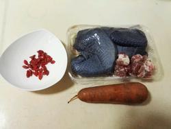 萝卜枸杞乌鸡汤的做法图解1