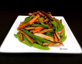 青椒炒豆干