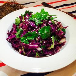凉拌紫包菜的做法[图]