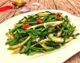 韭菜炒竹笋