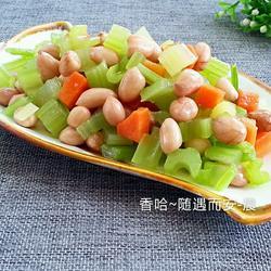 芹菜花生米的做法[图]