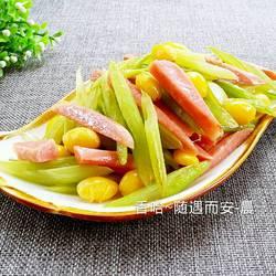 白果炒芹菜的做法[图]