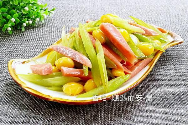 白果炒芹菜