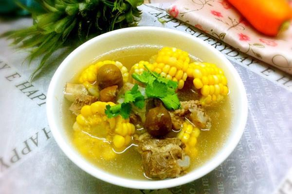 板栗玉米骨头汤