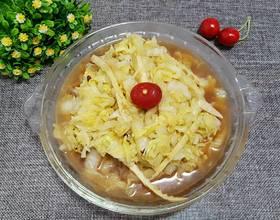 白菜炒春笋