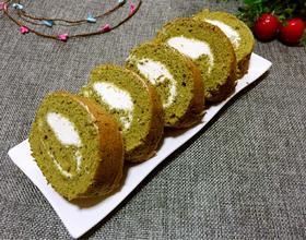 抹茶奶油蛋糕卷