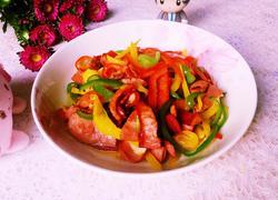 彩椒炒烤肠