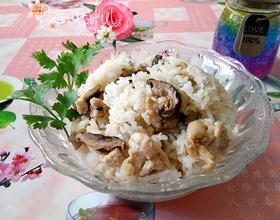 鸡胸肉冬菇电饭煲焗饭