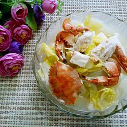 螃蟹白菜炖豆腐的做法[图]