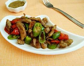 辣椒炒羊肉