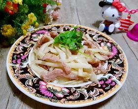 鲜姜炒肉丝