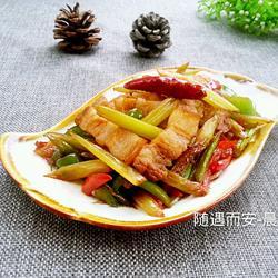 芹菜炒五花肉的做法[图]