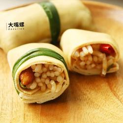 豆皮包螺蛳粉丨大嘴螺的做法[图]