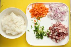 羊肉炒饭的做法图解1