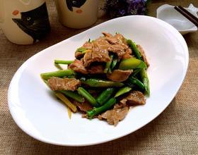 牛肉炒芥兰