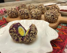 燕麦紫薯果