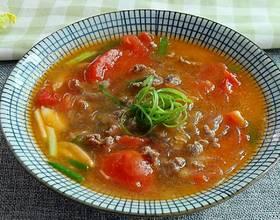 番茄牛肉粉丝汤