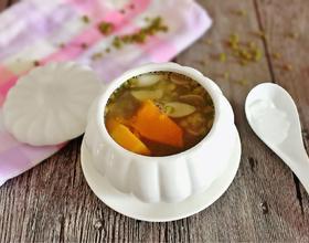 南瓜绿豆百合汤