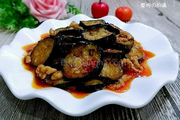 肉末油淋茄片的做法