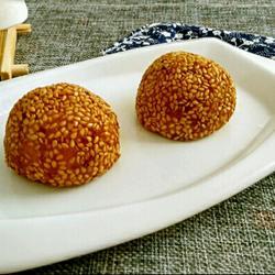黄金红薯糯米豆沙球