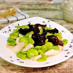 杏鲍菇炒豆瓣