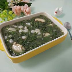 虾仁炒莼菜