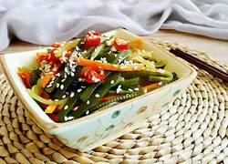 海带莴笋拌胡萝卜