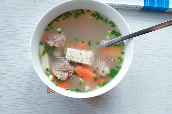 胡萝卜食谱炖菜谱的做法_部队_香哈网厨房排骨豆腐图片