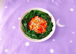 胡萝卜拌菠菜