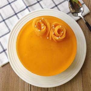 芒果酸奶慕斯蛋糕已经完成啦!👏👏👏[图1]