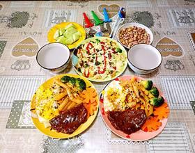 今天的早餐,中西合璧😊[图]