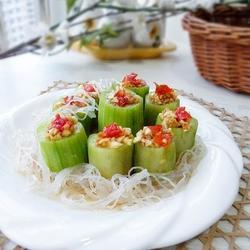 蒜末粉丝蒸丝瓜的做法[图]
