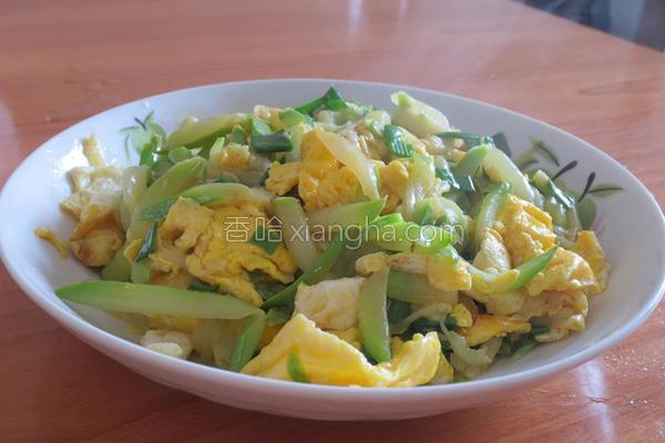 西葫芦炒蛋的做法