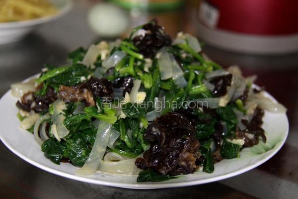 凉拌宽粉菠菜的做法