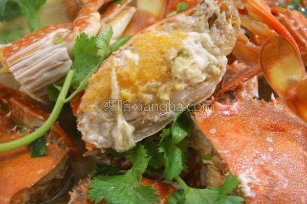 红烧花蟹的做法