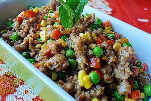 蚝油肉碎炒杂蔬的做法