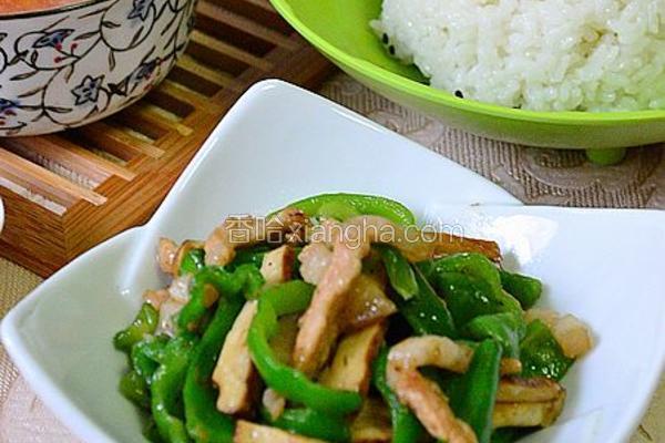 青椒豆丝小炒肉