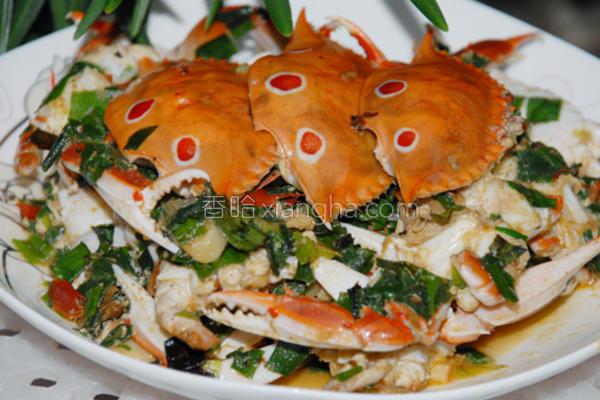 家常小炒蟹的做法