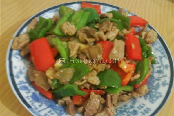 辣椒炒肉片的做法