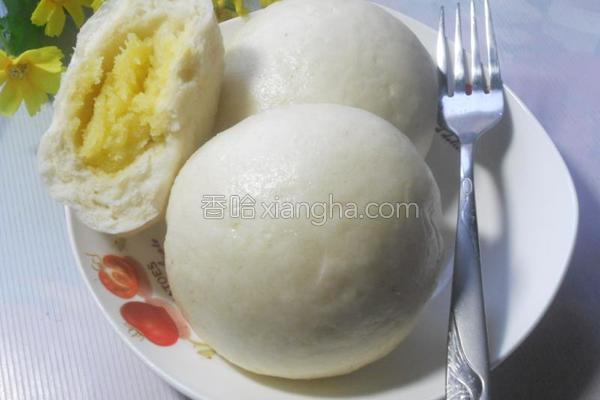 奶黄包的做法