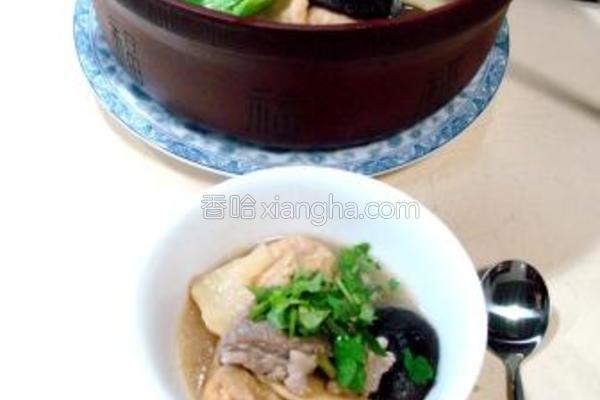 砂锅羊汤什锦的做法