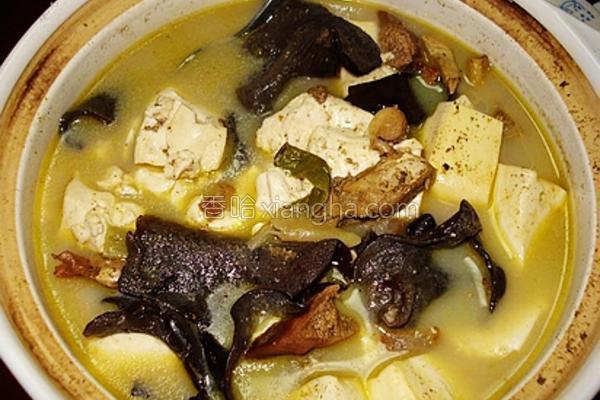 河蚌豆腐汤的做法