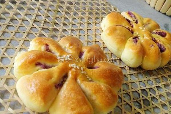 紫薯花样面包的做法