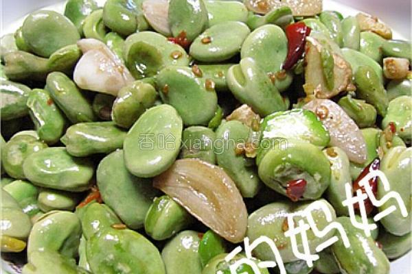 蒜香辣味蚕豆米的做法