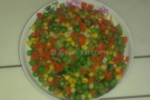 小炒四色蔬菜的做法