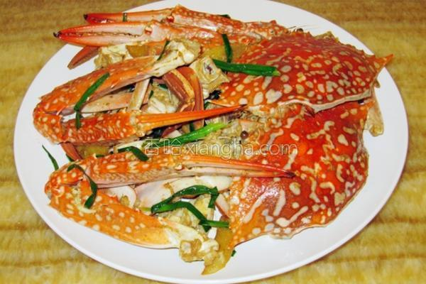 姜葱炒花蟹的做法