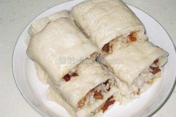 红枣糯米卷的做法